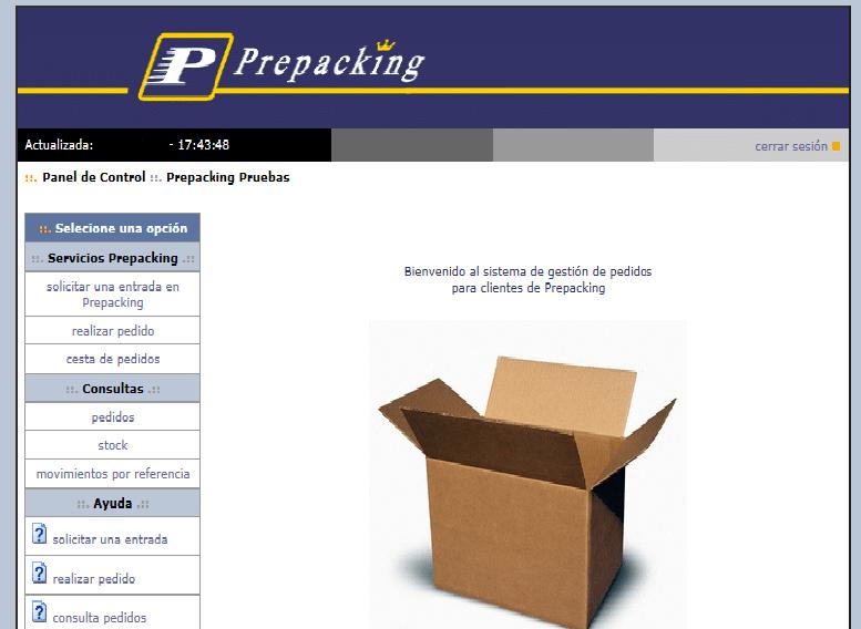 Almacen seguimiento pedidos Intranet tracking